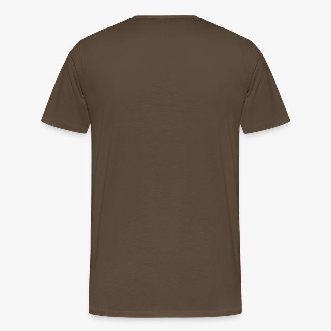 T-shirt herr med text fram.