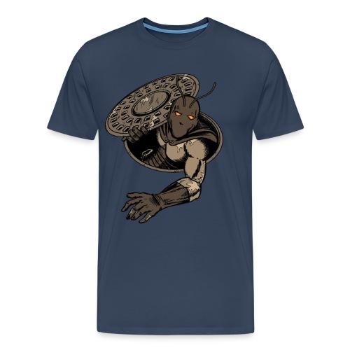 Kakerlak Übergröße Navy Blau - Männer Premium T-Shirt
