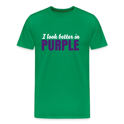 I LOOK BETTER IN PURPLE - Premium T-skjorte for menn