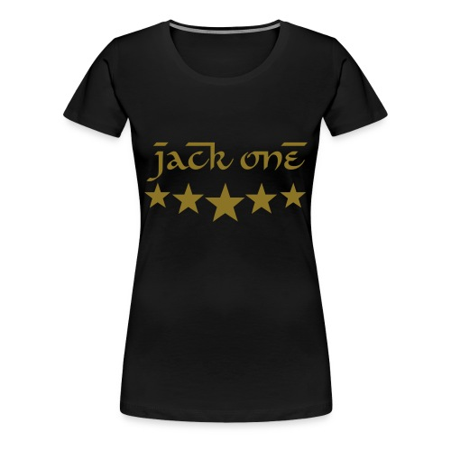 Women #1 - Black/Gold - Frauen Premium T-Shirt