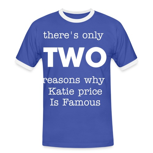 Katie Price t-shirt - Men's Ringer Shirt