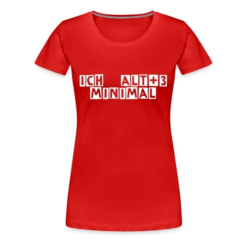Minimal Alt+3 Girlie red/white - Frauen Premium T-Shirt