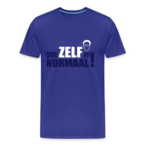 Doe ZELF ff normaal! - men's - SKY - Mannen Premium T-shirt