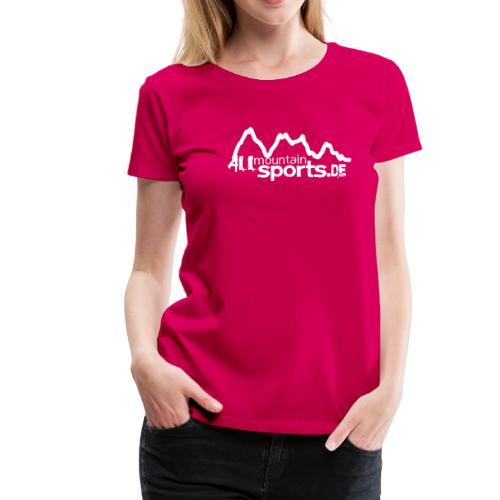 Girlie-Tee ALLmountainSPORTS.de pink - Frauen Premium T-Shirt