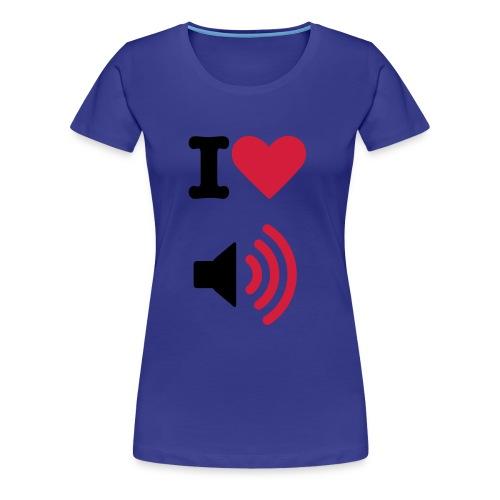 I heart loud music - Women's Premium T-Shirt