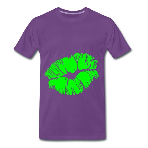 Powerup Shirt Kiss Green - Männer Premium T-Shirt