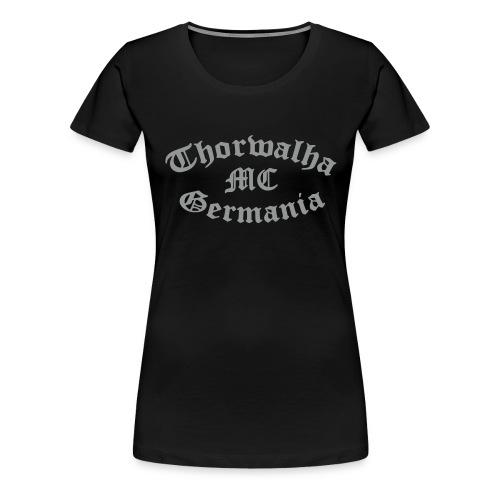 TW - Girlieshirt - Schriftfarbe Silbergrau - Frauen Premium T-Shirt