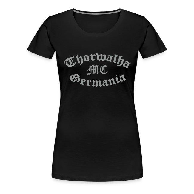 TW - Girlieshirt - Schriftfarbe Silbergrau