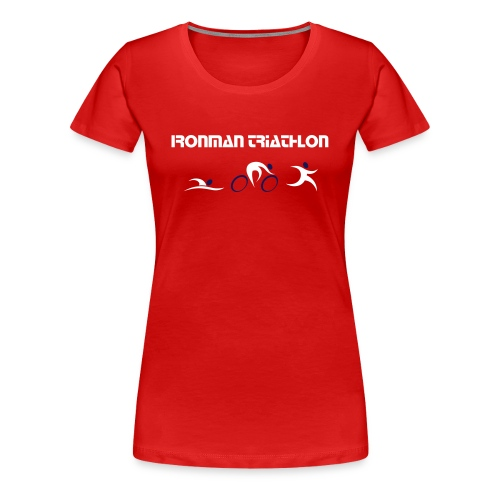 Ironman Triathlon Shirt Damen - Frauen Premium T-Shirt