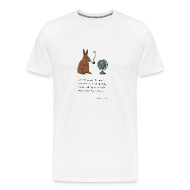 T-Shirts ~ Men's Premium T-Shirt ~ Pipe smoking rabbit - Mens white