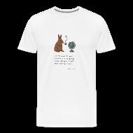 T-Shirts ~ Men's Premium T-Shirt ~ Pipe smoking rabbit - Mens white