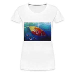 Wo schwimmst du hin? - Frauen Premium T-Shirt
