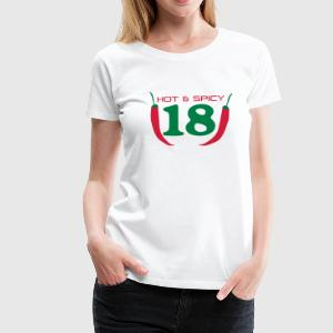 18_hot_spicy T-Shirts - Frauen Premium T-Shirt