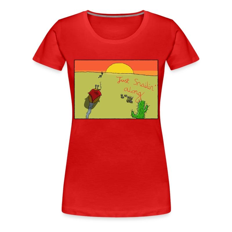 Just Snailin' Along Girlie Tee - Women's Premium T-Shirt