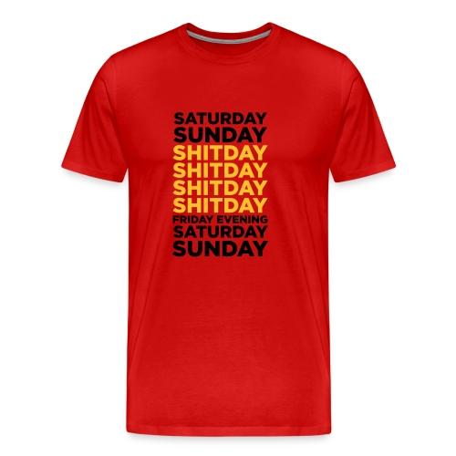 SHITDAY_BURGUNDY_JAUNE_OR_NOIR - T-shirt Premium Homme