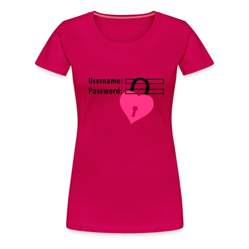 Password to my heart- Girls Tee - Women's Premium T-Shirt