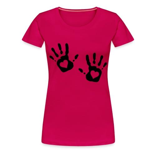 main coeur - T-shirt Premium Femme