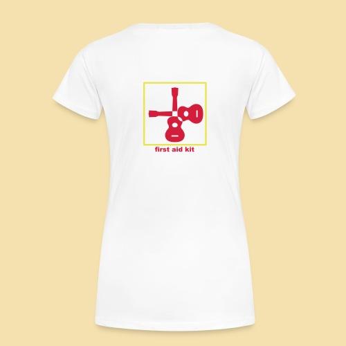 Girlshirt: first aid kit (Motiv rot/gelb) - Frauen Premium T-Shirt