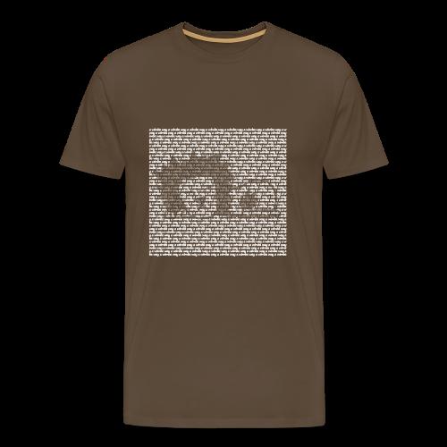The lion sleeps tonight, a wimba way a wimba way - Mannen Premium T-shirt
