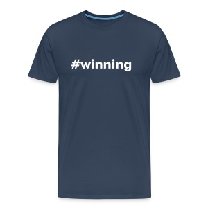 #winning - Men's Premium T-Shirt