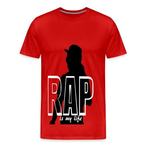 T shirt homme rap is my life - T-shirt Premium Homme