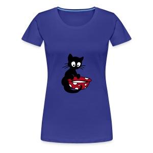 Georgie mit Milchschale Damenshirt - Frauen Premium T-Shirt