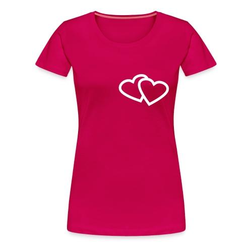 Zwei Herzen in meiner Brust - Frauen Premium T-Shirt