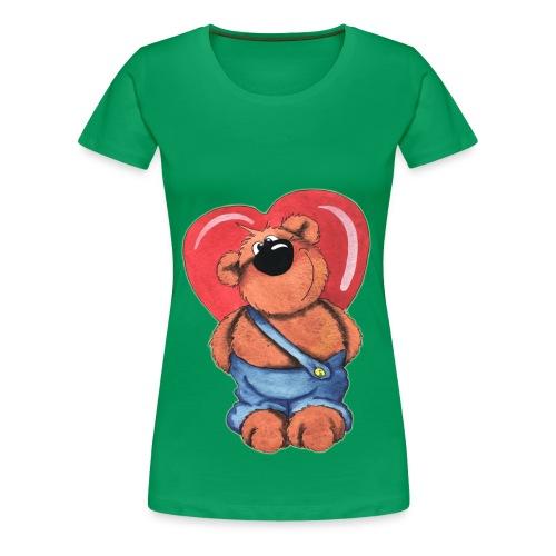 l'ours cache un coeur enorme - T-shirt Premium Femme