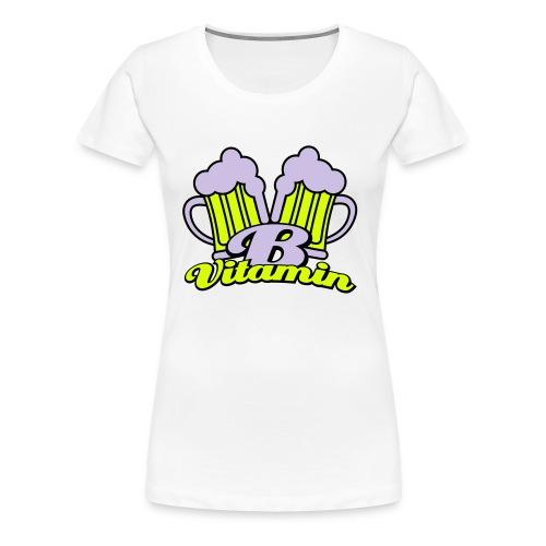 Bier zit vol met vitamine B Grote Maten Dames T-shirt - Vrouwen Premium T-shirt
