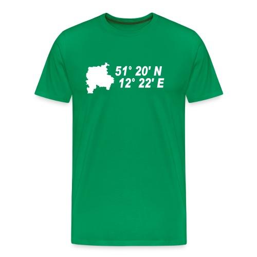 Leipzig Koordinaten T-Shirt - Männer Premium T-Shirt