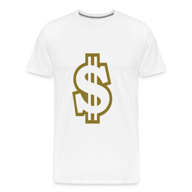 Grote mannen t-shirt met dollarteken