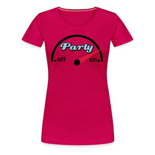 Party is on Grote Maten Dames T-shirt - Vrouwen Premium T-shirt