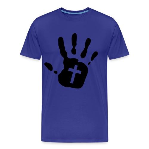 Male t-shirt hand of god - Men's Premium T-Shirt
