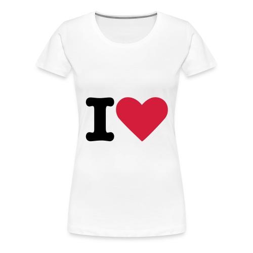 Ik hou van .... dames t-shirt - Vrouwen Premium T-shirt