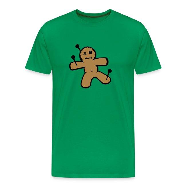 Mannen T-shirt met Voodoopop opdruk