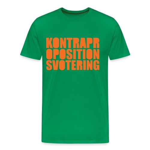 Kontrapropositionsvotering - Grön/Orange - Premium-T-shirt herr