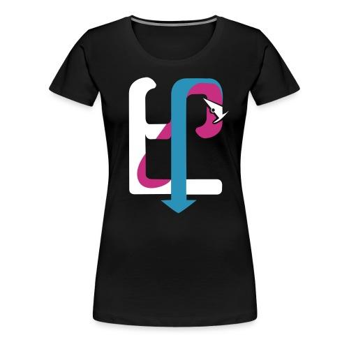 frontside flock, cyan - Women's Premium T-Shirt