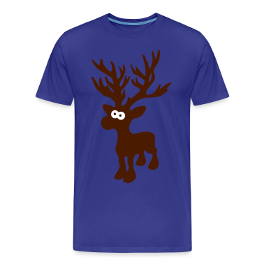 cute moose caribou reindeer deer christmas norway rudolph rudolf winter scandinavia canada T-Shirts