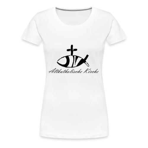 Kirche mit Kontur - Frauen Premium T-Shirt