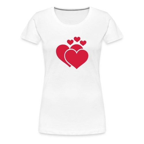 vrouwen (meerdere hartjes) - Vrouwen Premium T-shirt