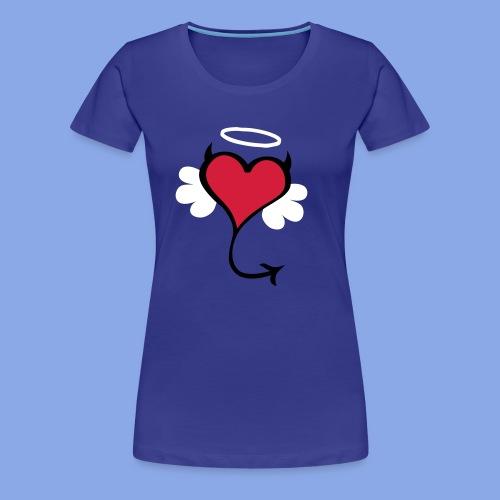 Verteufeltes Herzchen - Frauen Premium T-Shirt