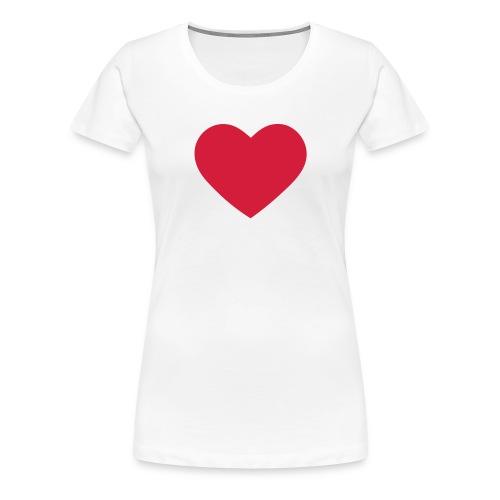 vrouwen (groot hart) - Vrouwen Premium T-shirt