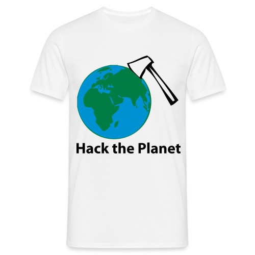 Hack the Planet - White - Männer T-Shirt