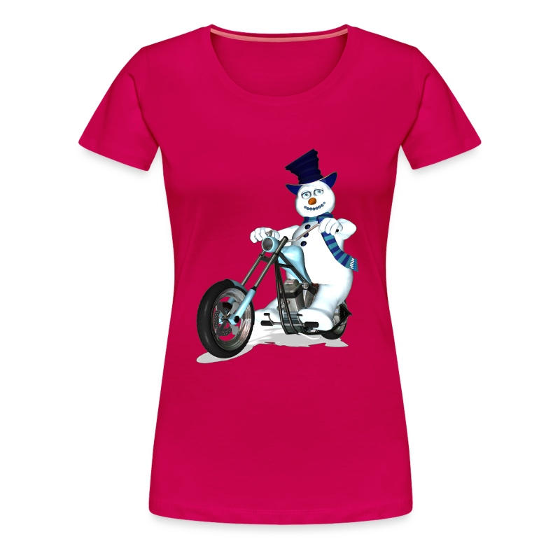 Biker Snowman (ladies) - Women's Premium T-Shirt