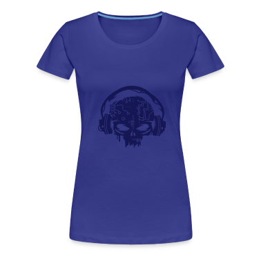 Cyborg Skull with headphones T-Shirts