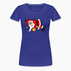 Santa Claus Doing Pushups T-Shirts