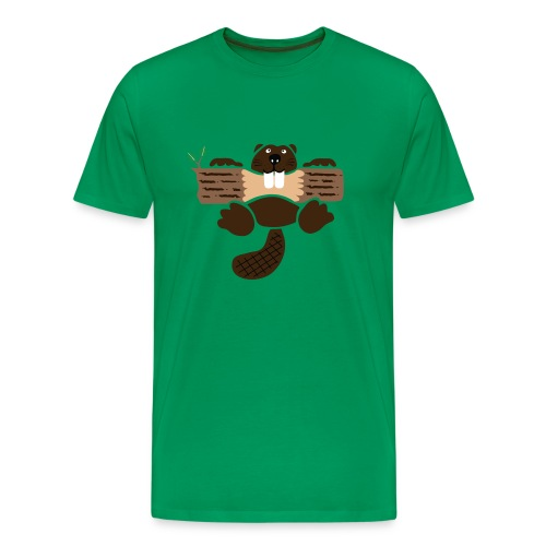 t-shirt biber bieber nager fleissig otter burg natur tier zähne - Männer Premium T-Shirt