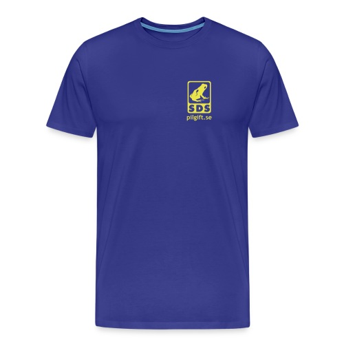 Premium-T-shirt herr - Logga på bröstet