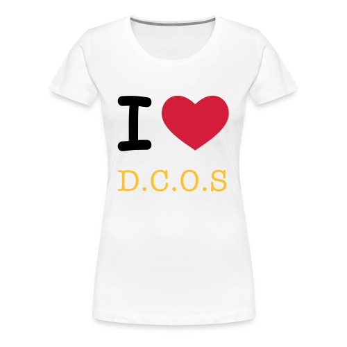 I Love DCOS Woman - Frauen Premium T-Shirt