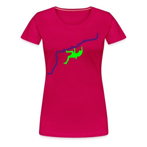 Flachländer vs. Wand - Frauen Premium T-Shirt